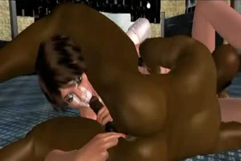 dirty swarthy Hunk insanely plowing Two 3D T