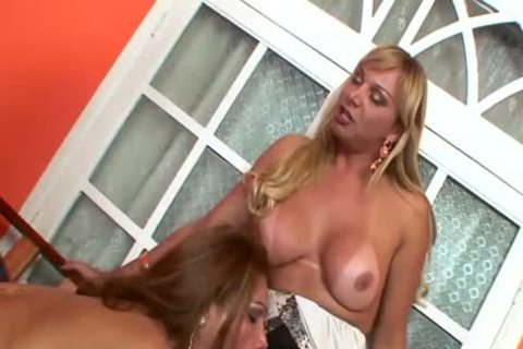 No Sound: tranny Threeway With this babemales hammered After sucking